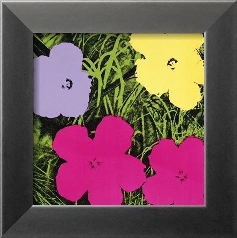 blumen 1 lila 1 gelb 2 rosa kunstdrucke von andy warhol bei. Black Bedroom Furniture Sets. Home Design Ideas