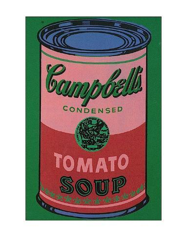 colored campbell 39 s soup can red green poster von andy warhol bei. Black Bedroom Furniture Sets. Home Design Ideas