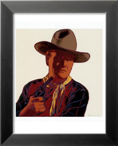 Cowboys and Indians: John Wayne 201/250, 1986 Laminierter gerahmter Kunstdruck