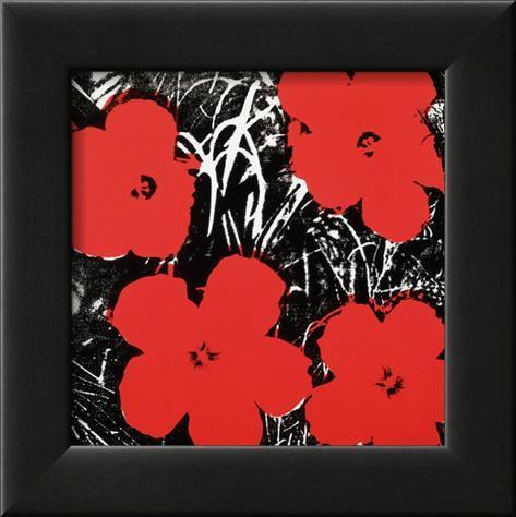 flowers red kunstdrucke von andy warhol bei. Black Bedroom Furniture Sets. Home Design Ideas