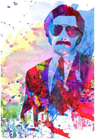 Anchorman Watercolor Poster