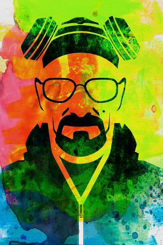 Walter White Watercolor 1 Poster