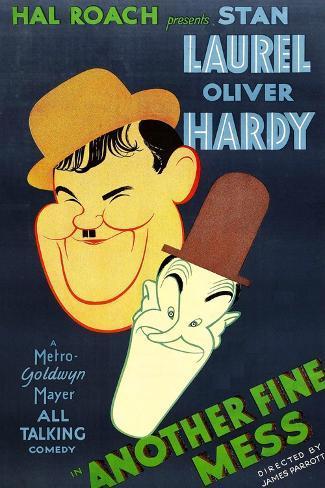Another Fine Mess, Oliver Hardy, Stan Laurel, 1930 Kunstdruck