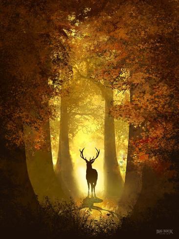 Autumn Deer Poster