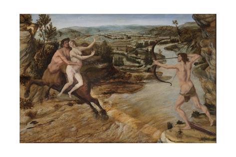 Hercules and Deianira, C.1475-80 Giclée-Druck