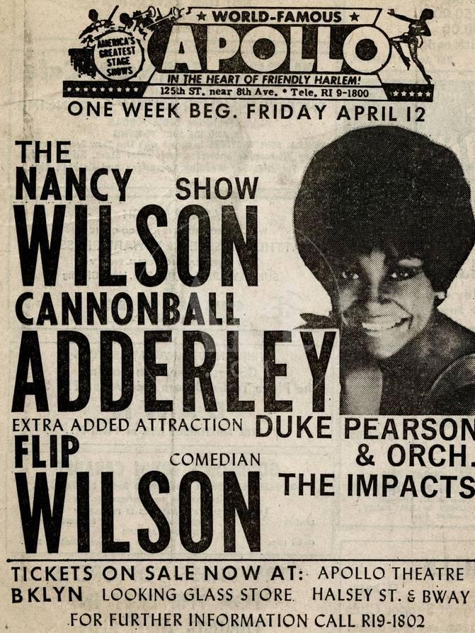 Apollo Theatre: Nancy Wilson, Cannonball Adderley, Duke Pearson ...