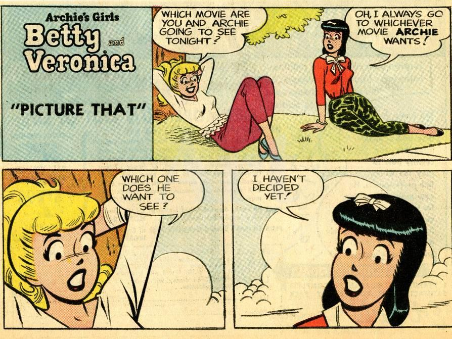 Archie Comics Retro: Betty and Veronica Comic Strip; Picture That ...