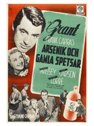 Arsenic and Old Lace, Swedish Movie Poster, 1944 Kunstdruck