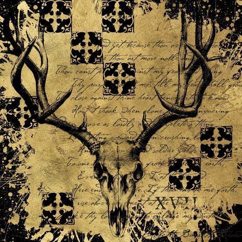 B&G Deer Skull Giclée-Druck