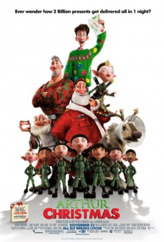 Arthur Christmas Doppelseitiges Poster