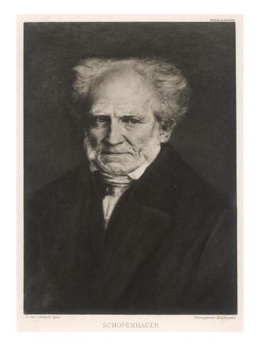 Arthur Schopenhauer German Philosopher Giclée-Druck