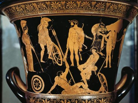 Attic Krater Depicting Heracles and Argonauts from Orvieto, Umbria Region, Italy, 475-450 B.C. Giclée-Druck
