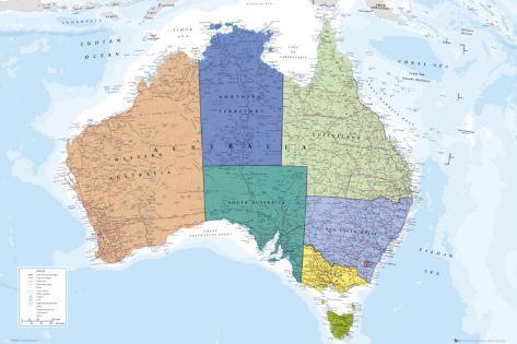 AUSTRALIA MAP Poster bei AllPosters.de