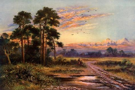 Autumn Sunset, 1911-1912 Giclée-Druck