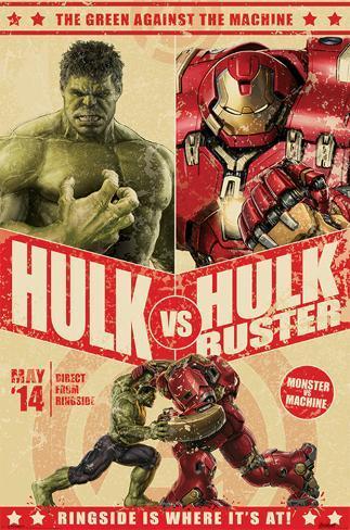 Avengers Age Of Ultron - Hulk Vs Hulkbuster Poster
