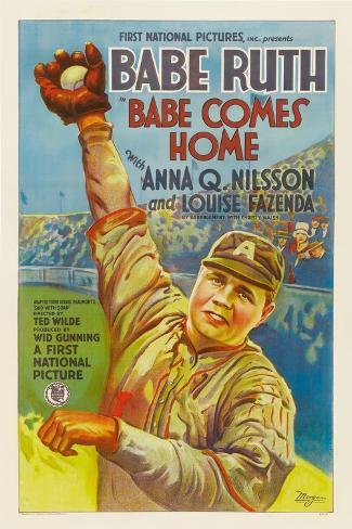 Babe Comes Home, Babe Ruth, 1927 Kunstdruck