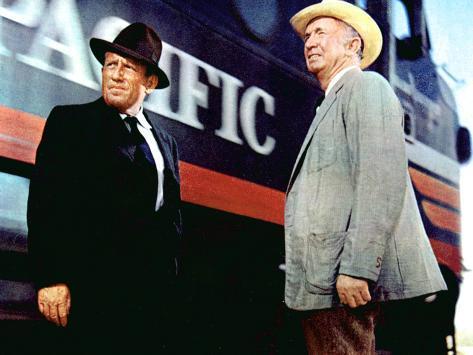 Bad Day At Black Rock, Spencer Tracy, Walter Brennan, 1955 Foto