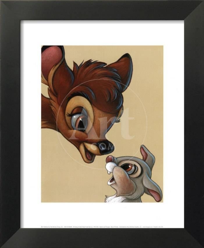 Bambi und Klopfer  Die besten Freunde Kunstdrucke bei AllPostersde