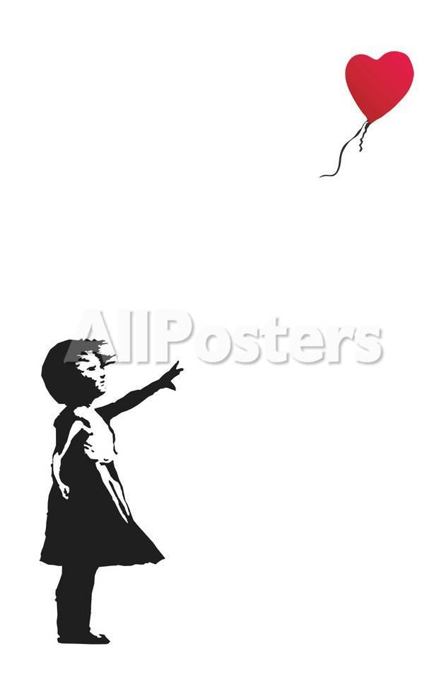 Balloon Girl Schilderij Van Banksy Bij Allpostersnl