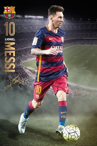 Barcelona- Messi Action 15/16 Poster