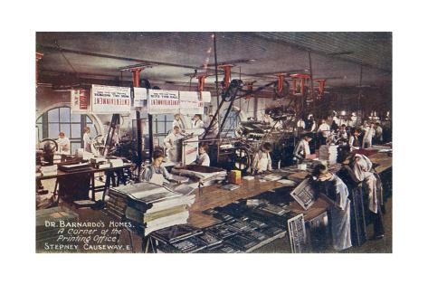 Barnardo Boys Printing Giclée-Druck