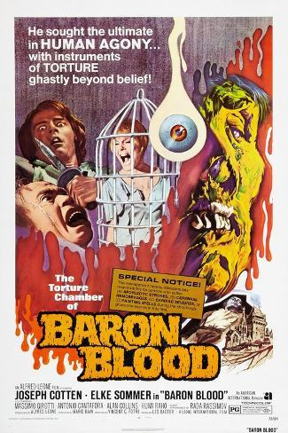 Baron Blood (aka Gli Orrori del Castello di Norimberga) Kunstdruck