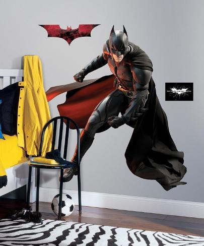 Batman dark knight rises batman peel stick giant for Batman wandtattoo