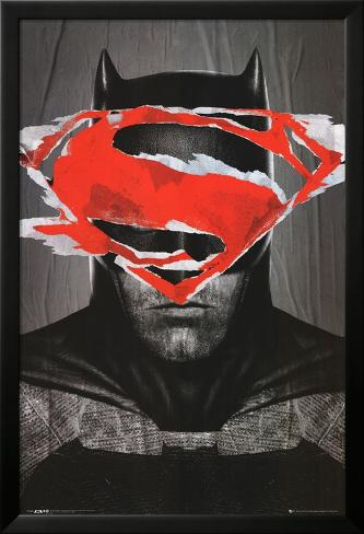 Batman Vs Superman Batman Teaser Laminiertes gerahmtes Poster
