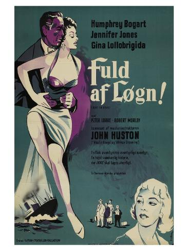 Beat the Devil, Danish Movie Poster, 1953 Kunstdruck