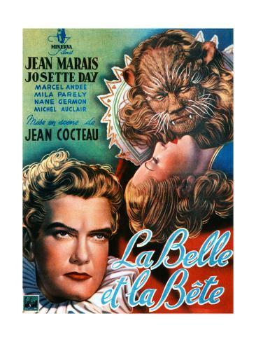 Beauty and the Beast, (AKA La Belle Et La Bete), Jean Marais, Josette Day, 1946 Giclée-Druck