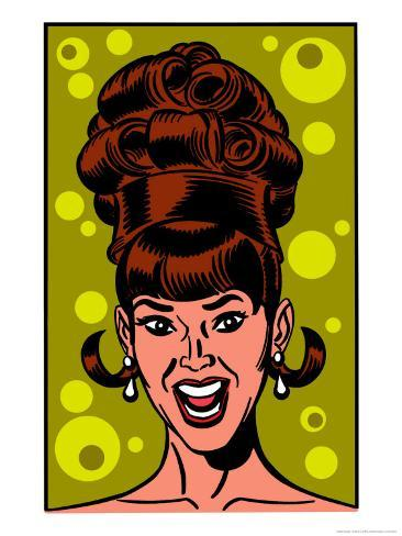 Beehive Hairdo Kunstdruck