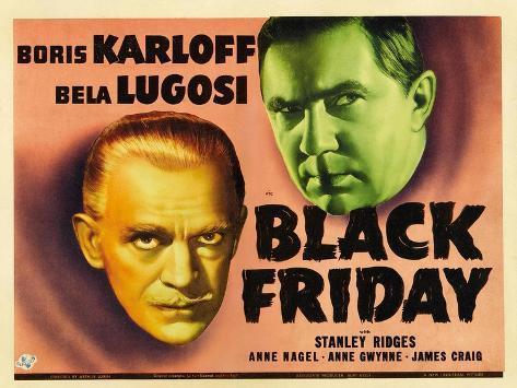 Bela Lugosi, Black Friday, 1940 Giclée-Druck