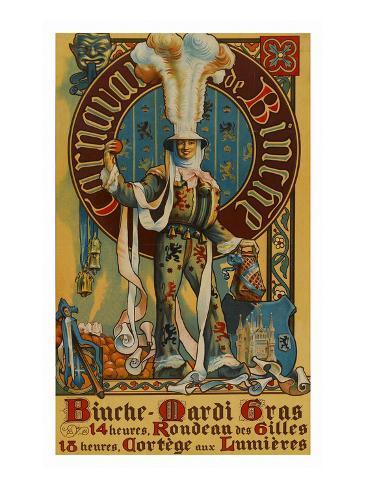 Belgian Mardi Gras Poster Giclée-Premiumdruck