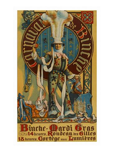 Belgian Mardi Gras Poster Kunstdruck