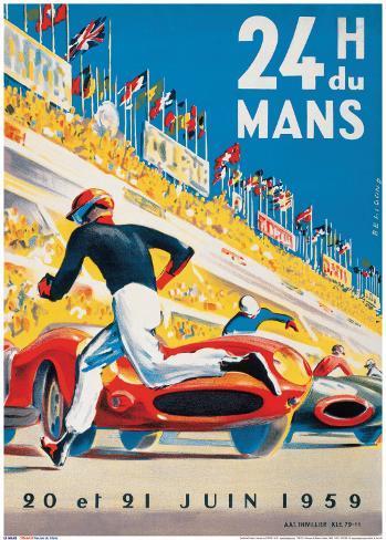 Le Mans 20 et 21 Juin 1959 Kunstdruck