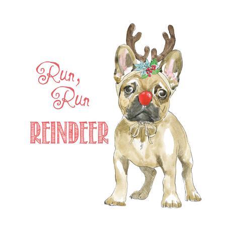 Glamour Pups Christmas V Kunstdruck