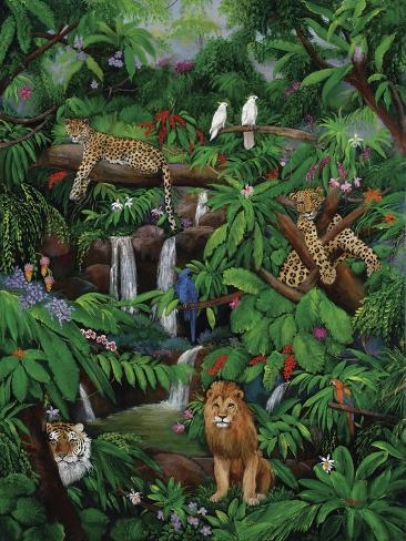 Tree Leopards Giclée-Druck