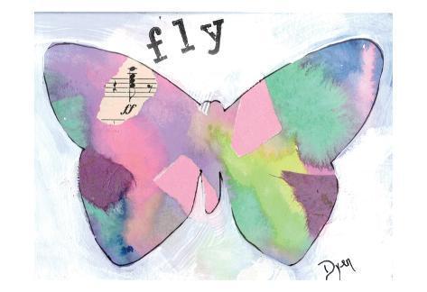 Fly Butterfly Kunstdruck