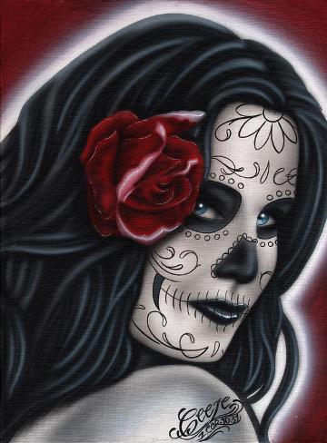 Adultress Kunst op gespannen canvas