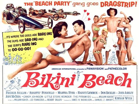 Bikini Beach Kunstdruck
