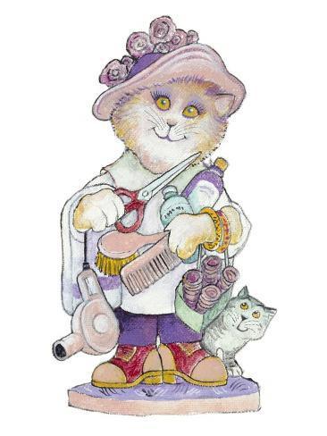 Clipper Cat Giclée-Druck