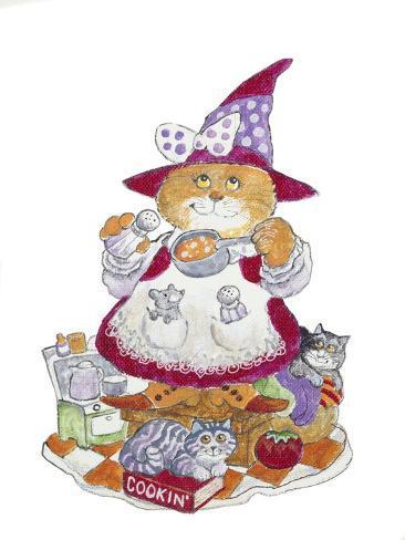 Cookin' Cat Giclée-Druck