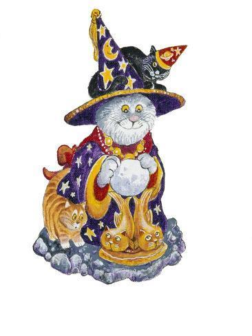 Witch Cat Giclée-Druck