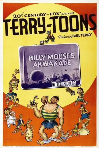 Billy Mouse's Akwakade Kunstdruck