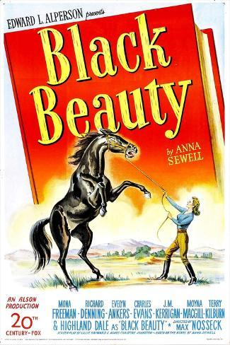 Black Beauty, Mona Freeman, 1946 Kunstdruck
