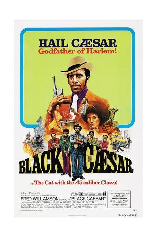 Black Caesar, Fred  Williamson, 1973 Kunstdruck