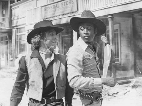 Blazing Saddles, from Left: Gene Wilder, Cleavon Little, 1974 Foto