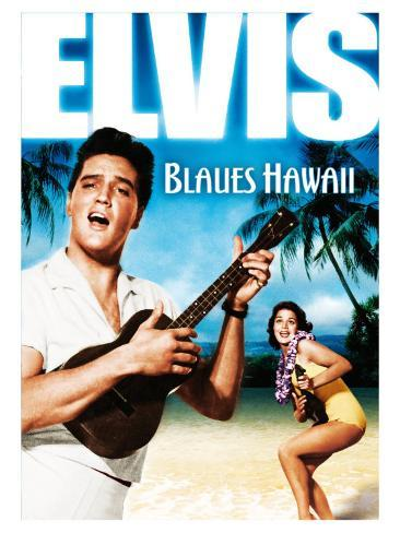 Blue Hawaii , German Movie Poster, 1961 Kunstdruk