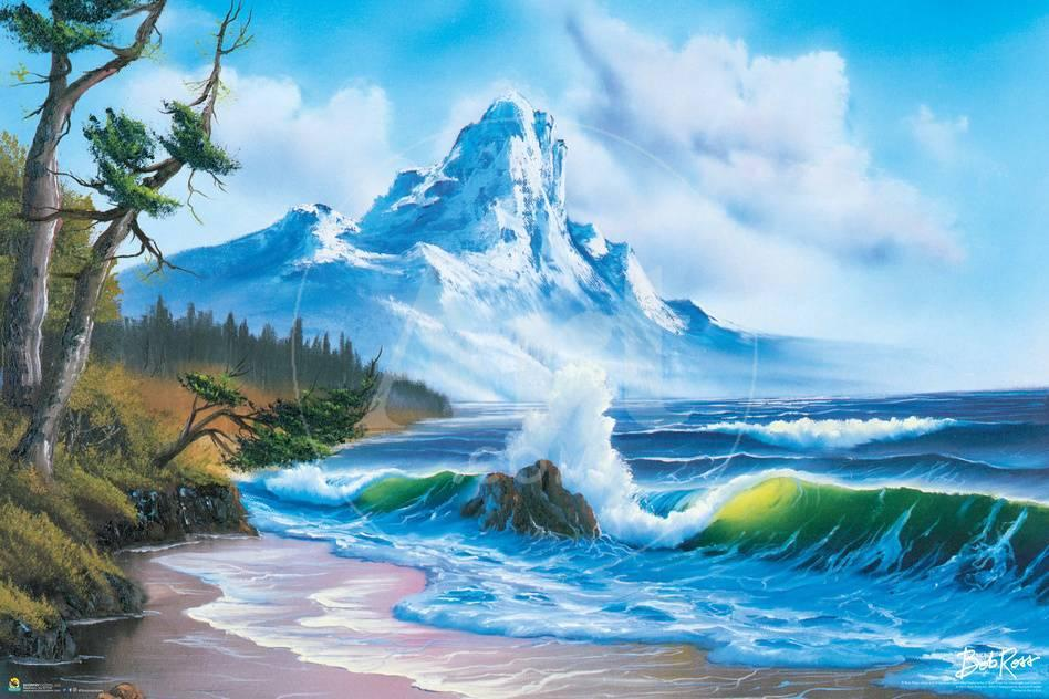 Bob Ross - Waves Crashing Poster von Bob Ross bei AllPosters.de