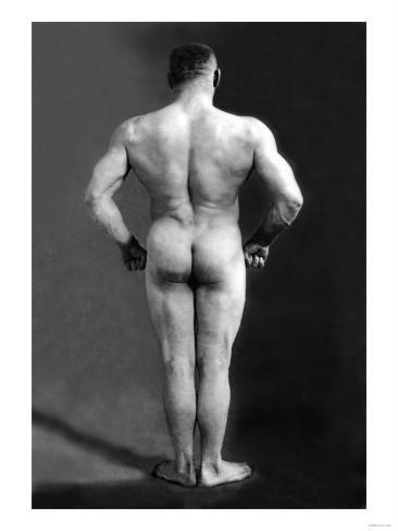 Bodybuilder's Back Kunstdruck